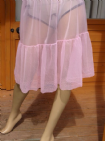 "AUTHENTIC 1960'S SEE THRU NYLON HALF SLIP SIZE:-36 WAIST 20-42"" #A8"